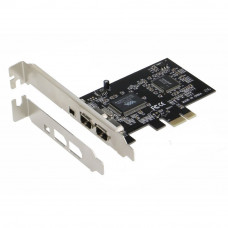 SEDNA - PCIe (PCI EXpress) 3+1 Ports 1394A (Firewire) Adapter card (VIA) (3E, 2x 6 Pin + 1 x 4 Pin external port) with low profile bracket