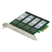 SEDNA - PCIe Quad M.2 SSD SATA 6G 4 Port Raid Adapter with HyoperDuo Hard disk acceleration function