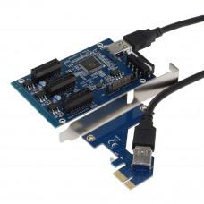 SEDNA - PCI express 1X slots Riser / 3 Port Multiplier