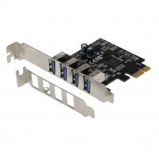 SEDNA - PCI Express USB 3.1 Gen I ( 5Gbps ) 4 Port Adapter with Low Profile Bracket - Supports Windows, Linux and Mac Pro ( 2008 to 2012 Late Version ) , no need power connector
