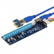SEDNA - PCI-E 1X to 16X Riser Card Extender with USB and power cable