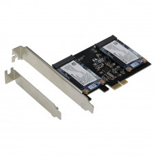 SEDNA - PCI Express Dual mSATA III (6G) SSD Adapter with low profile bracket