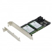 SEDNA - PCI/PCIe Mounting Adapter for Dual mSATA SSD ( SATA III ) with Low Profile Bracket