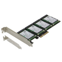 SEDNA - PCIe 4X - Quad mSATA SSD RAID Controller Card (RAID 0/1/10) Marvell HyperDuo Technology with Low Profile bracket (SSD not included)