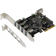 SEDNA - PCIe 5 Port (4E1I) USB 3.1 Gen II (10Gbps) Adapter Card with Low and Standard Profile Brackets