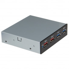 SEDNA - USB 3.0 2 Ports + USB BC 1.2  Charging 2 Ports - Floppy Bay Front Panel for Desktop PC