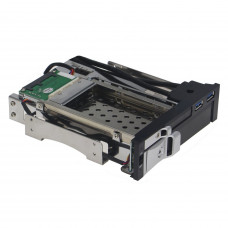 "SEDNA - Dual 2.5"" and 3.5"" SATA Hdd Mobile Rack with 2 USB 3.0 Port and Power Switch ( Fit 5.25"" DVD ROM bay )"