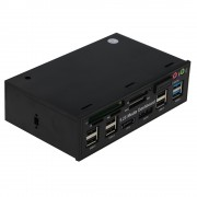 "SEDNA - 5.25"" DVD ROM Bay Multi Function Front Panel (6 x USB 2.0,2 x USB 3.0,2 x SATA,Audio, Card Reader)"