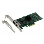 SEDNA - PCIe 4X Dual Port 10/100/1000 Gbps Ethernet Server Adapter (Intel I350-T2 Chipset), with low profile bracket