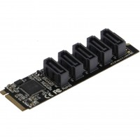 SEDNA - M2 (2280) PCIe M Key to 5 x SATA 6G Adapter Card (Support Software RAID)
