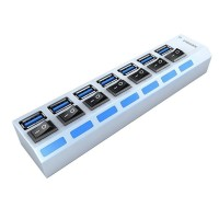 SEDNA - USB 3.1 ( GEN I ) Desktop 7 Ports  Hub with Power Switch and 1 IPad Charging Port