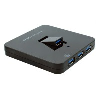 SEDNA - USB 3.1 ( GEN I ) 4 Ports  Hub - 1 Vertical Foldable Port and 1 iPad Charging Port - Black